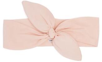 Lafayette House Of Bow Embellished Silk Headband - Womens - Light Pink