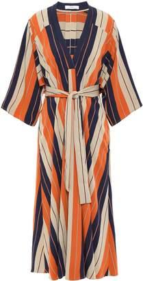 Tome Striped Twill Midi Dress