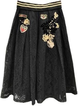 Fashion Week Black Lace Skirt