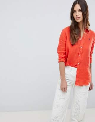 Polo Ralph Lauren Linen Shirt With Classic Logo