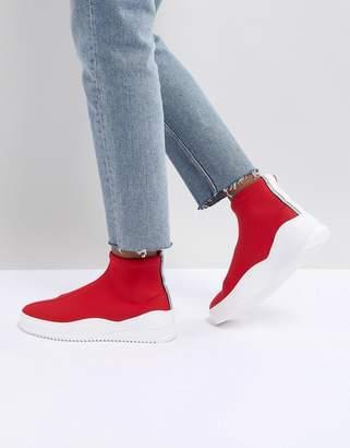 Bronx Red Sock Sneakers