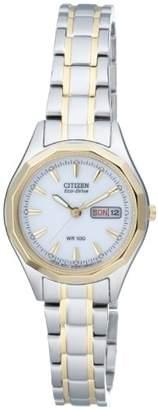 Citizen Women's Quartz Watch with Black Dial Analogue Display Quartz Stainless Steel EW3144 51AE