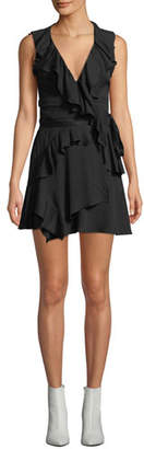 IRO People Sleeveless Ruffle Mini Dress