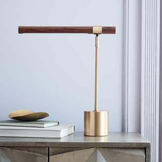 west elm Linear Wood LED Table Lamp
