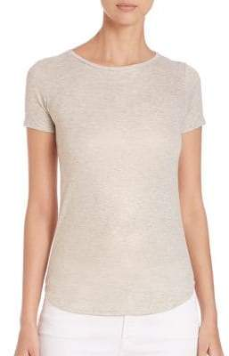 Majestic Filatures Saks Fifth Avenue x Metallic Short Sleeve Crew T-Shirt
