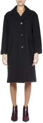 McQ Black Wool Oversized Coat