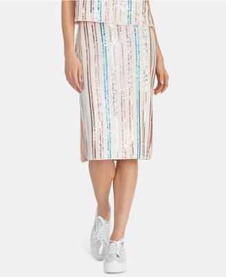 Rachel Roy Salim Sequin-Striped Midi Skirt