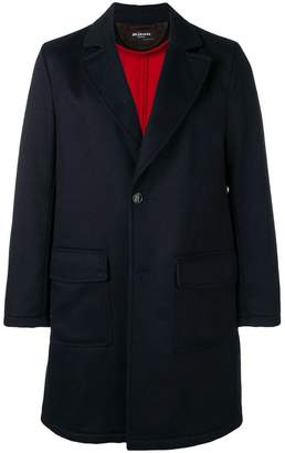 Kiton single-breasted fitted coat