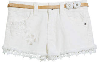 Mayoral Denim Lace-Trim Shorts, Size 3-7
