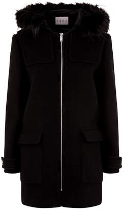 Claudie Pierlot Fur Trim Coat