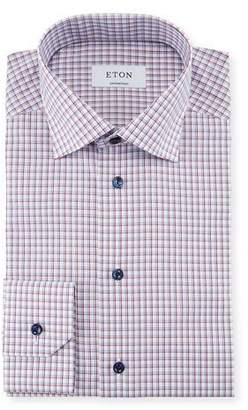Eton Check Cotton Dress Shirt