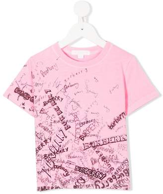 Burberry doodle print branded T-shirt