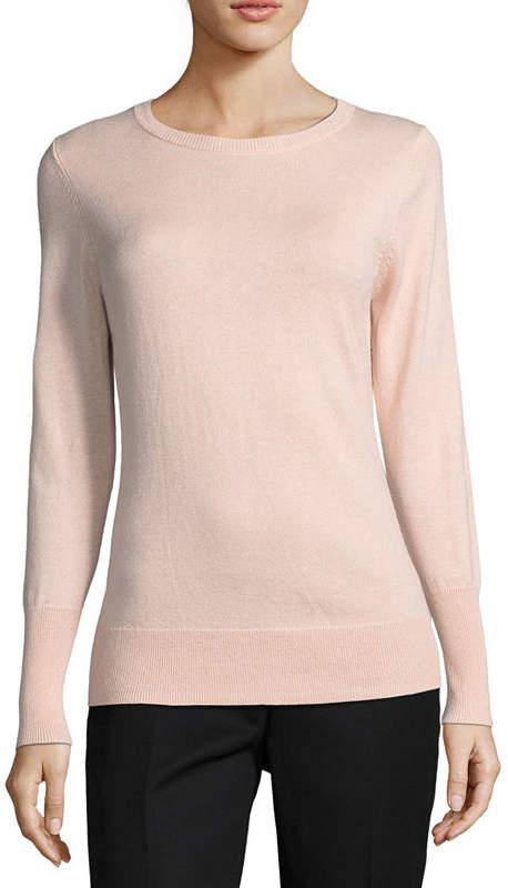WORTHINGTON Worthington Long Sleeve Sweatshirt-Petite