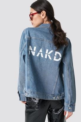 NA-KD Na Kd Branded Denim Jacket
