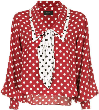 G.V.G.V. polka dot shawl collar blouse