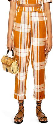 Topshop Tilly Check Peg Trousers
