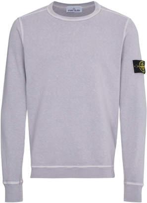 Stone Island Lilac dyed crew neck sweater