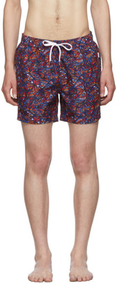 Onia Multicolor Butterflies Charles Swim Shorts