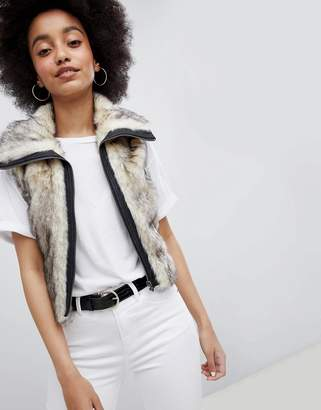 Urban Bliss Cropped Fur Vest