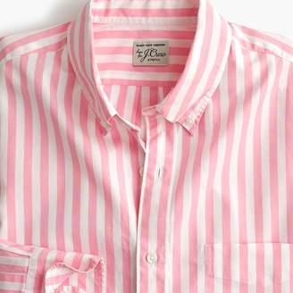 J.Crew Untucked Secret Wash shirt in pink stripe