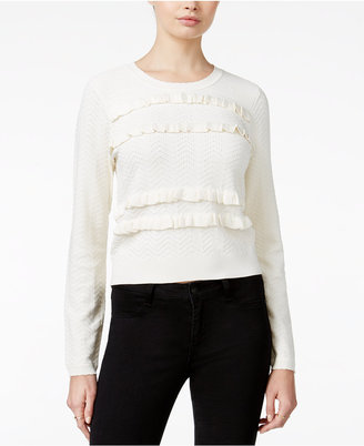 Maison Jules Ruffled Sweater, Only at Macy's $79.50 thestylecure.com