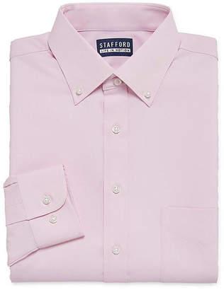 STAFFORD Stafford Poly Span Long Sleeve Woven Dress Shirt