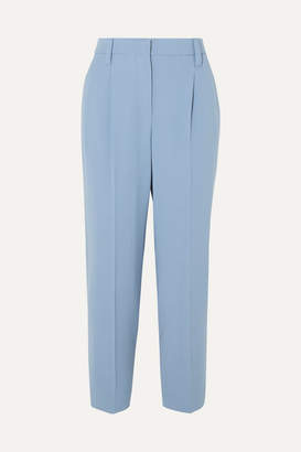 Brunello Cucinelli Cropped Wool-blend Pants - Light blue