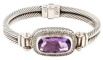 David Yurman Amethyst & Diamond Bangle
