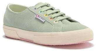 Superga 2750 Suede Rainbow Grommet Lace-Up Sneaker