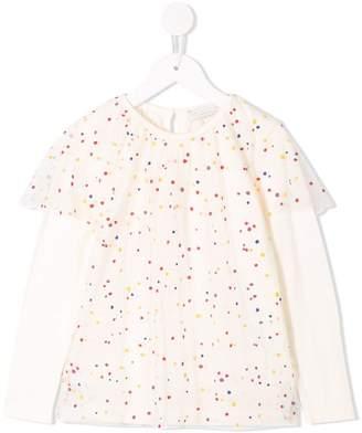 Stella McCartney dot print long sleeve top