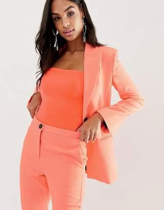 Asos Design DESIGN fluro pink suit blazer