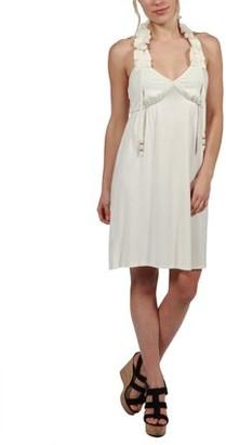24/7 Comfort Apparel 24Seven Comfort Apparel Kyra Ruffle Halter Dress