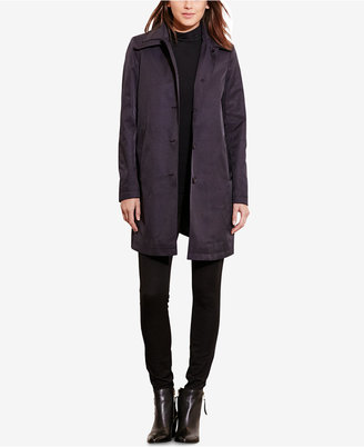 Lauren Ralph Lauren Hooded Single-Breasted A-Line Raincoat, Only at Macy's $99.98 thestylecure.com