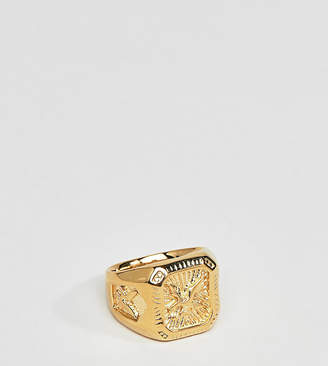 Serge DeNimes Serge Denimes gold eagle ring in sterling silver with gold plating