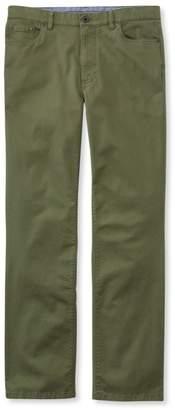 L.L. Bean L.L.Bean Lakewashed Five-Pocket Stretch Khakis, Standard Fit
