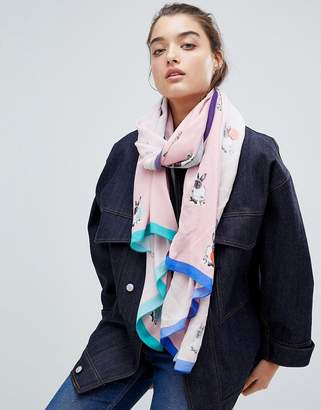 Paul Smith PS PS by Rabbit Pink Scarf