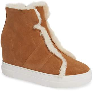 Very Volatile Bonnet Faux Fur Wedge Sneaker Bootie