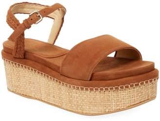 Stuart Weitzman Women's Suede Platform Wedge Sandals