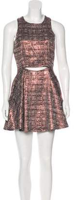 Lovers + Friends Cutout Metallic Dress