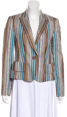Akris Punto Silk Striped Blazer