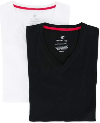 Loveless V-neck fitted T-shirt