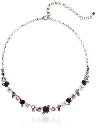 Sorrelli Core Antique Silver Tone Crystal Noir Novelty Multi-Cut Necklace