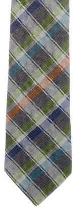 Etro Plaid Silk Tie