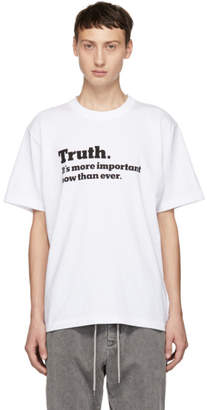 Sacai White Truth T-Shirt