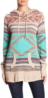 Nostalgia Geo Print Hooded Sweater