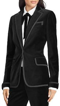 Ralph Lauren Faille Trim Velvet Blazer