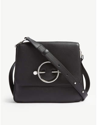 J.W.Anderson Ladies Black Disc Leather Shoulder Bag