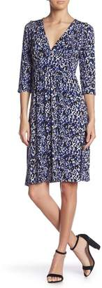 Loveappella Banded Waist Patterned Dress