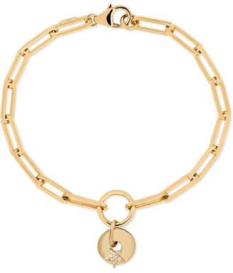 Foundrae - Star 18-karat Gold, Enamel And Diamond Bracelet