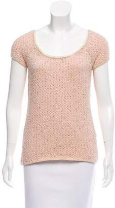 TSE Lurex-Accented Cashmere-Blend Top